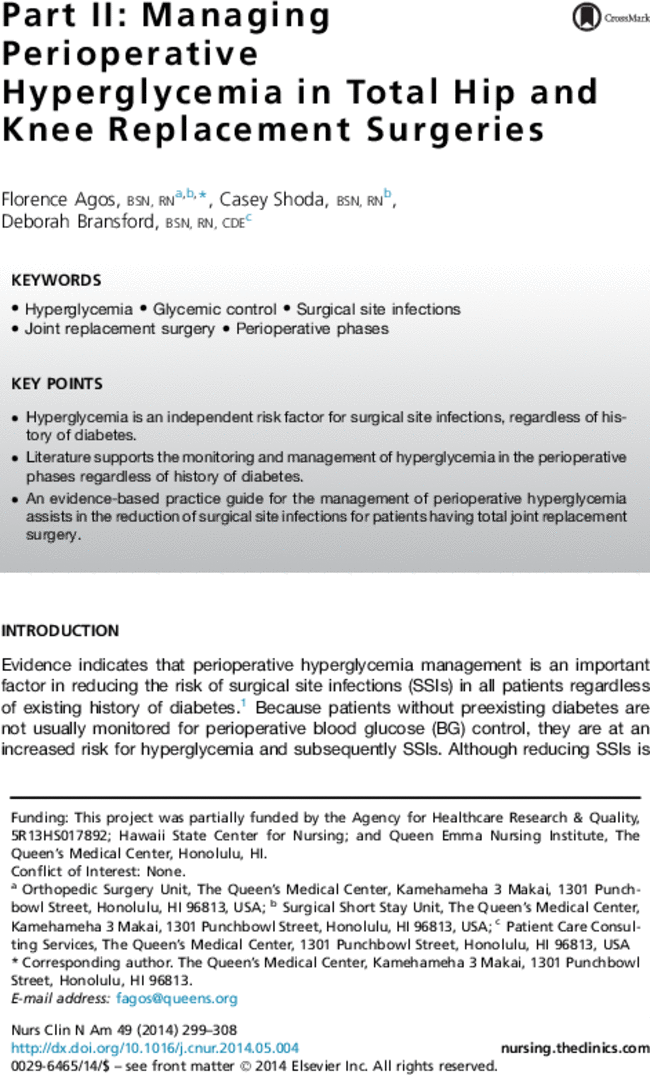 clinical practice guidelines for total joint replacement